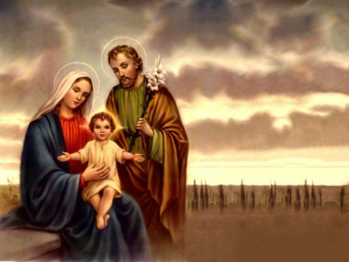 Resultado de imagen para Sagrada Familia: Jesús, María y José